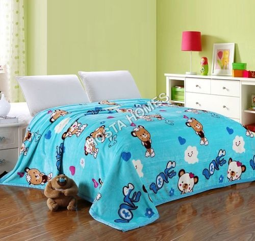 Cartoon Print Double Bed AC Blanket With Pillow Cover(All Weight Available)