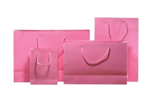 Light Pink Gloss Laminated Carrier Bag