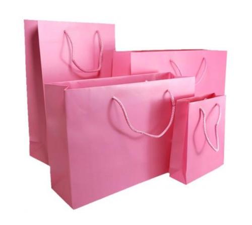 Light Pink Matt Laminated Carrier Bag