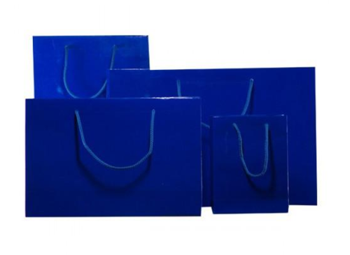 Royal Blue Gloss Laminated Carrier Bag