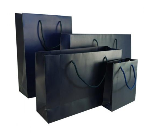 Royal Blue Matt Laminated Carrier Bag