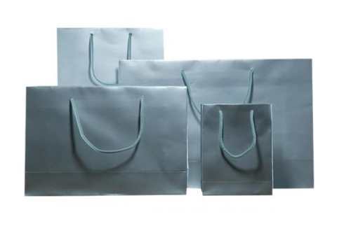 Silver Gloss Laminated Carrier Bag