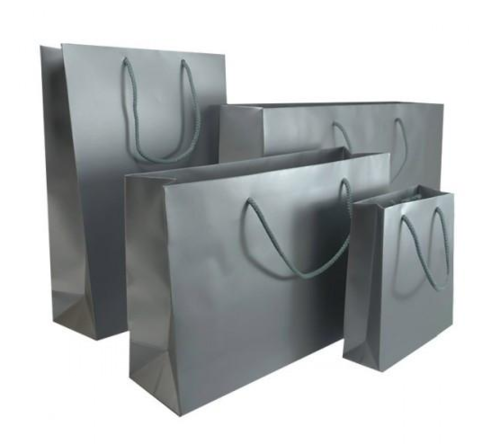 Silver Matt Laminated Carrier Bag