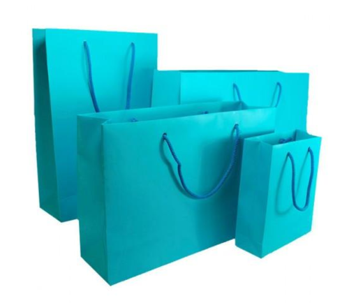 Turquoise Blue Matt Laminated Carrier Bag
