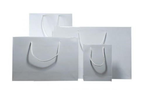White Gloss Laminated Carrier Bag