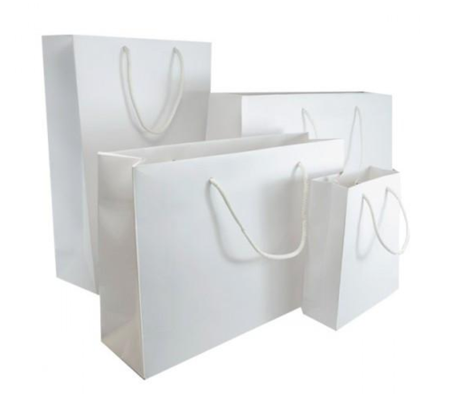 White Matt Laminated Carrier Bag