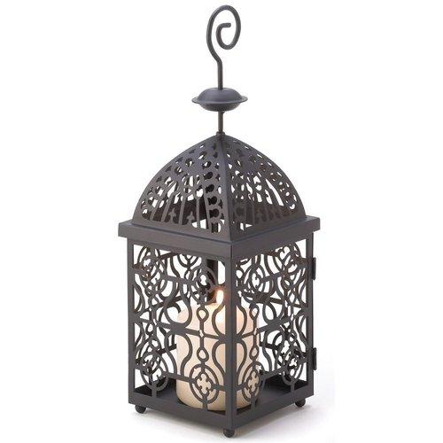 Gifts & Decor Moroccan Birdcage Iron Candle Holder Hanging Lantern