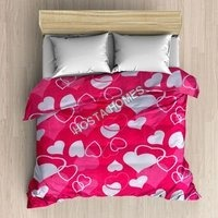 Heart Print Single Bed AC Blanket With Pillow Cover(All Weight available)