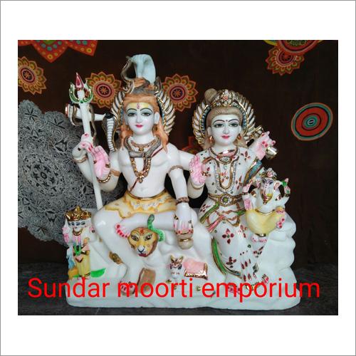 Marble Gourishankar Statue