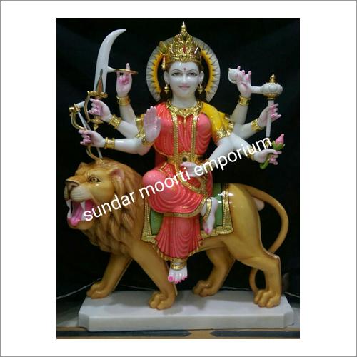Polished Marble Durga Statue