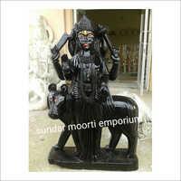 Black Marble Shani Dev Statue