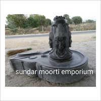 Black Marble Panchmukhi Shivling Statue