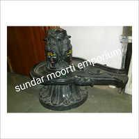 Marble Black Panchmukhi Shivling Statue