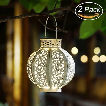 Maggift 2 Pack Hanging Solar Lights