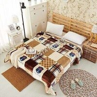 Abstract Single Bed AC Blanket Without Pillow Cover(All Weight Available)