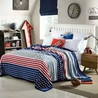 Abstract Stars Print Single Bed AC Blanket Without Pillow Cover(All Weight Available)