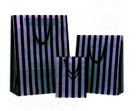 Black Stripes on White Paper Carrier Bag