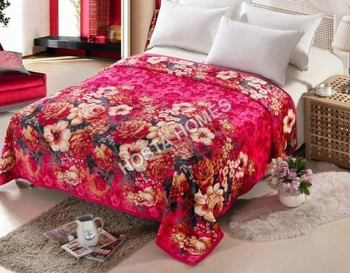 Floral Super Soft Single Bed AC Blanket (All Weight Available)