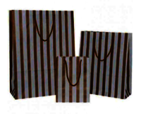 Gold Stripes on White Paper Carrier Bag