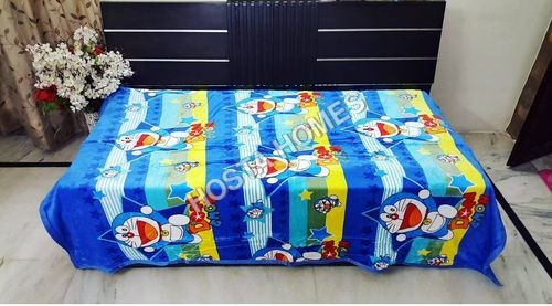 Doremon Print Super Soft Single Bed Baby AC Blanket(60 x 100)
