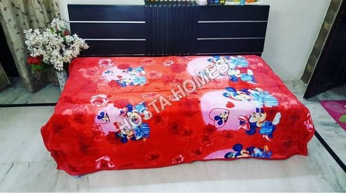 Super Soft Single Bed Micky Print Baby Blanket
