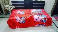 Super Soft Single Bed Micky Print Baby Blanket