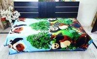 Super Soft Single Bed Panda Design Baby AC Blanket