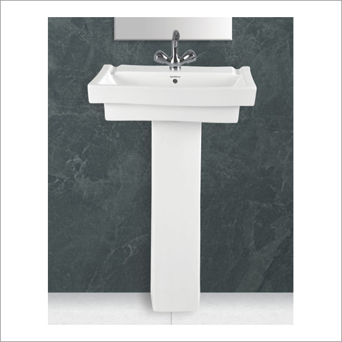 Ceramic Square Pedestal Wash Basin