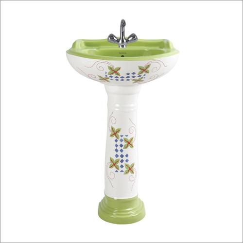 Mint Green - Pedestal Wash Basin