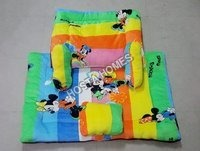 Super Soft Micky Mouse Print Baby AC Comforter Set With Vibrant Colour