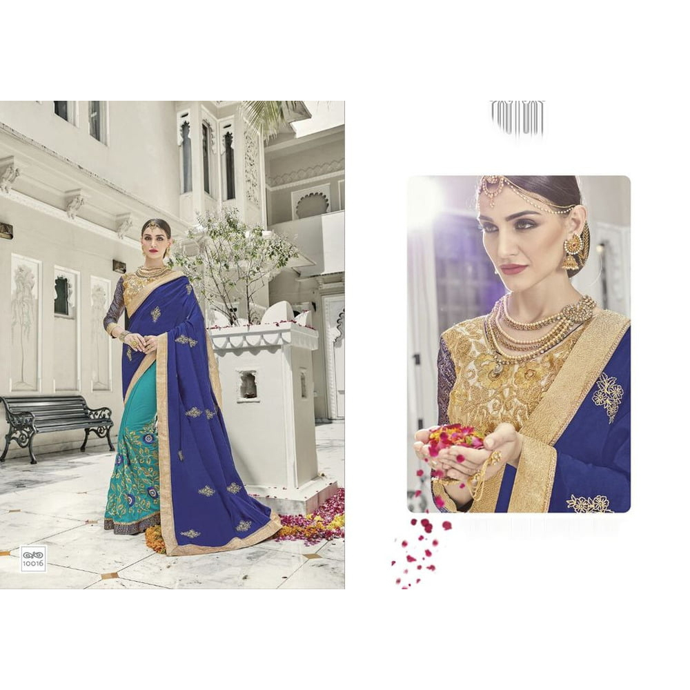 Artsilk half and half fashion Sarees
