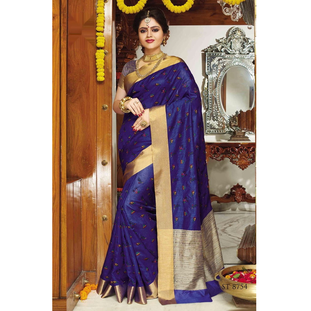 Ladies Tussar Silk Sarees