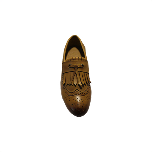 Mens Laser Cut Belly Shoe