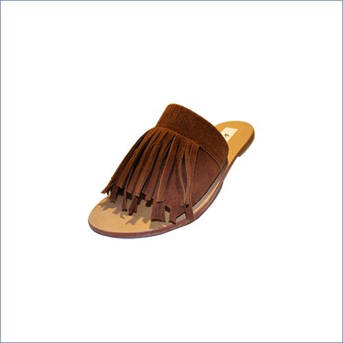 Fringe Leather Flat