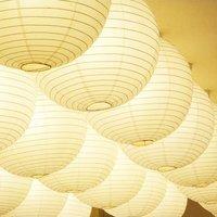 Novelty Place 8 Inch White Paper Lanterns