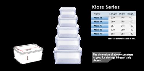 Klass Seris Plastic Box