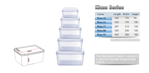 Storage Plastic Container - Klass Series