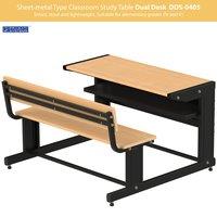 Sheet-metal Classroom Study Dual Desk DDS-0405