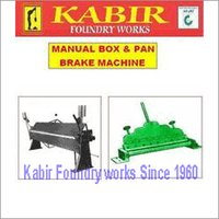 Manual Box And Pan Brake Machine