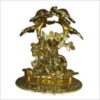 Copper Radha Krishna Statue