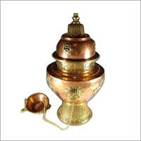 Brass Copper Silver Inlaid Incense Burner