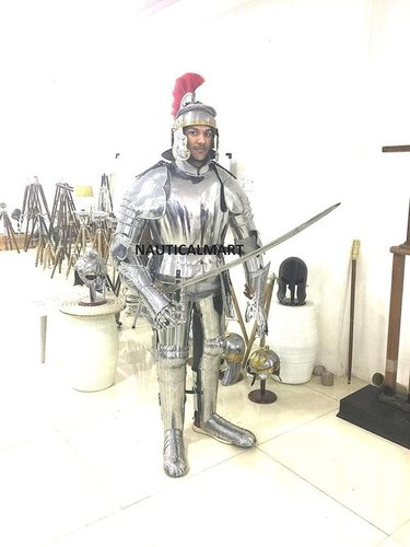 Functional Full Suit Of Knight Armour By Nauticalmart