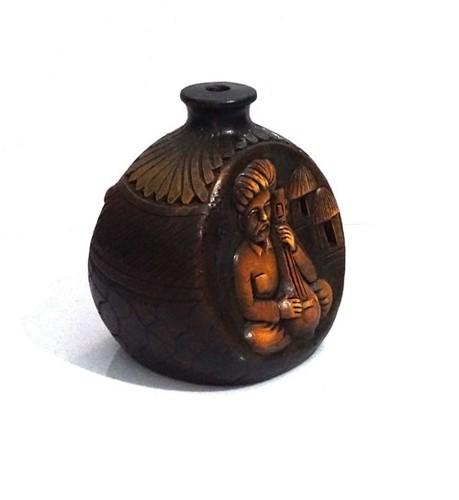 Rajesthani Vase Leather Finish