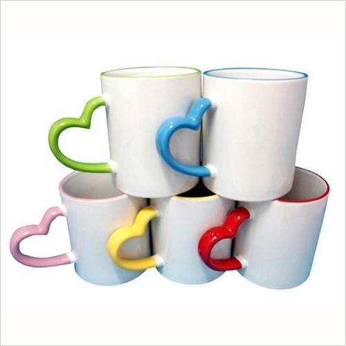 Rim Heart Handle Mug