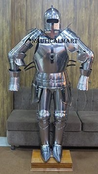 Medieval Milanese Suit of Armour - Halloween Costume - Custom Size