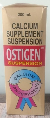 Calcium supplement suspension