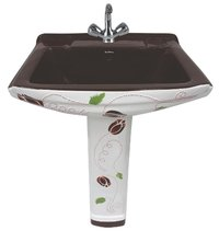 Sophia Set Black Color Pedestal Wash Basin