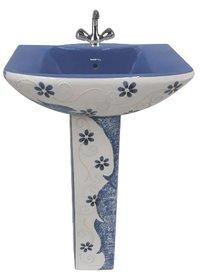 Modern Printed Pedestal Wash Basin