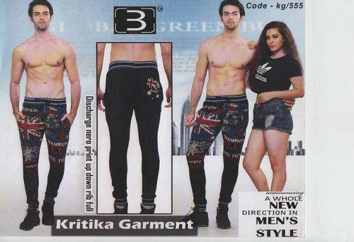 Men's Discharge Nero Print Up Down Rib Full Pant