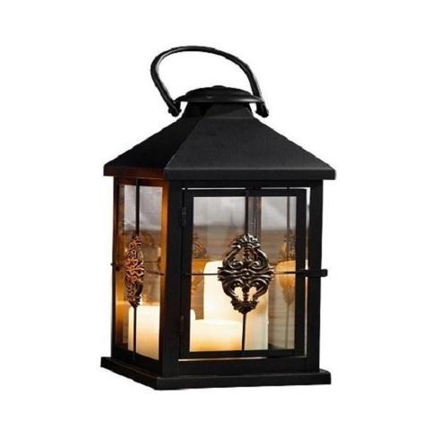 Medium 19 in. Metal European-style Hanging Candle Lantern